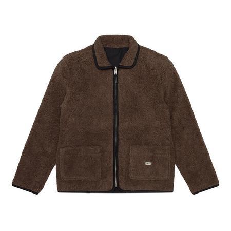 Knickerbocker Reverse Zip Pile Jacket - Brown Pile/Black