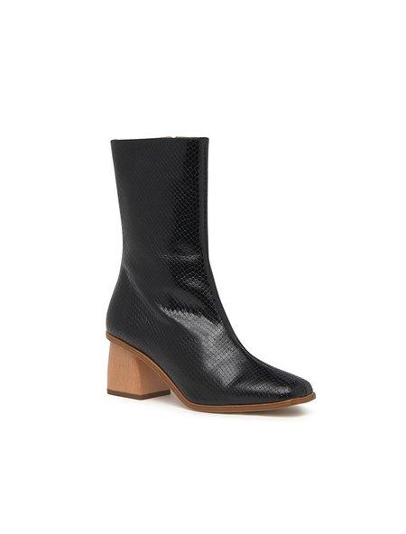 Paloma Wool Emilia Mid Calf Leather Boot - Black