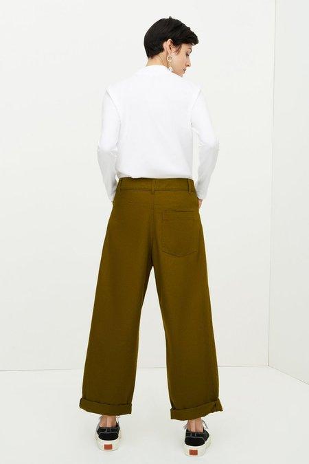 Kowtow Worker Jeans - Olive Denim
