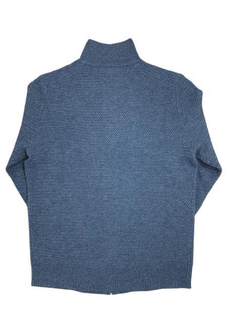 Trumbull Rhodes TR Textured Full Zip Sweater - Blue