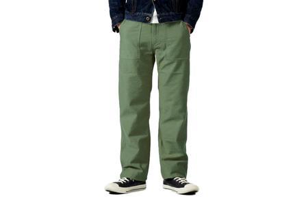 Japan Blue Modern Military Baker Pants - Green