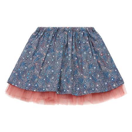 KIDS Bonton Child Barbie Skirt - Blue Floral Liberty Print