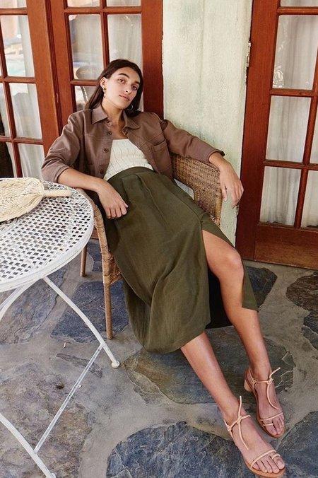 First Rite Pleated Skirt - Moss