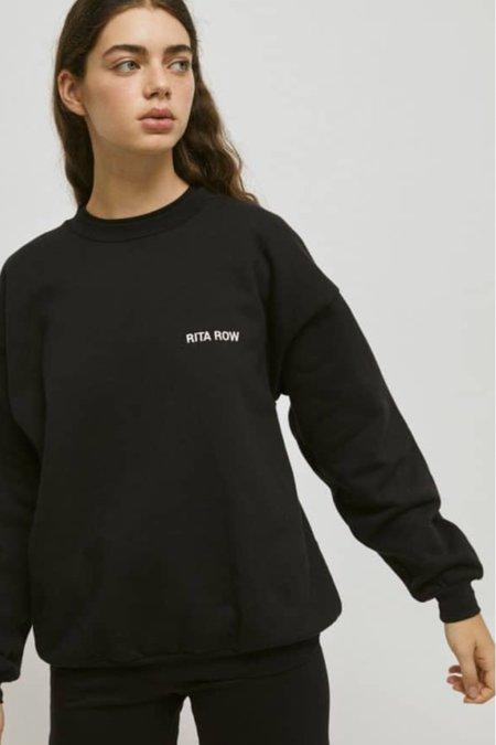 Unisex Rita Row Lucas Organic Cotton Sweatshirt - Black