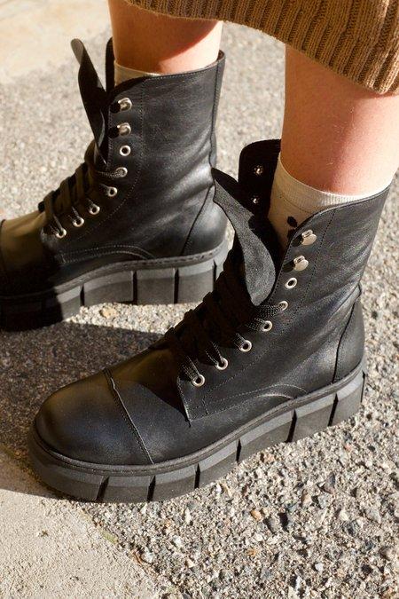 Rita Row Trini Leather Boots - Black