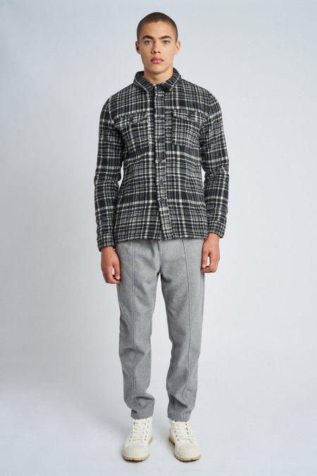 Native Youth jaxon wool overshirt - black