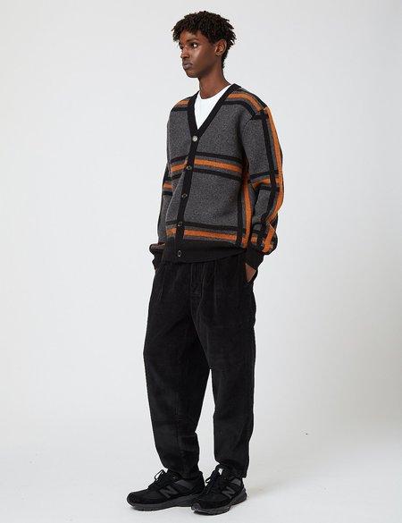 Edwin Geometric Cardigan Sweater - Grey/Black/Auburn