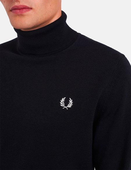 Fred Perry Roll Neck Jumper - Black
