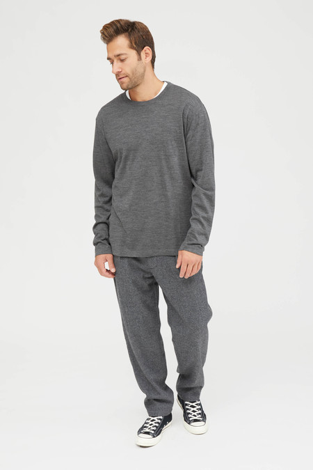 Engineered Garments Carlyle Wool Glen Plaid Stripe Pant - Grey