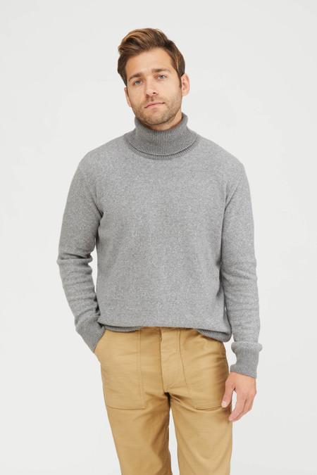 Presidents Vanise Cotton Cashmere Knit Turtleneck  - Grey