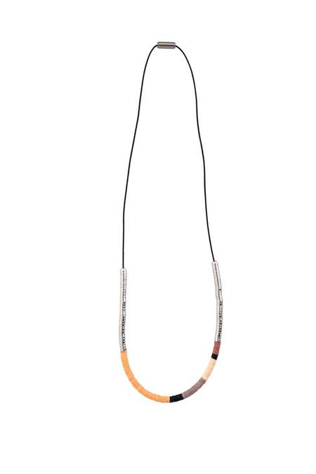 JULIE THÉVENOT simple Isiand necklace - silver