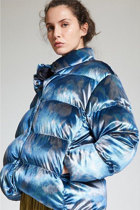 Maliparmi Serenade Flower Puffer Jacket - Blue
