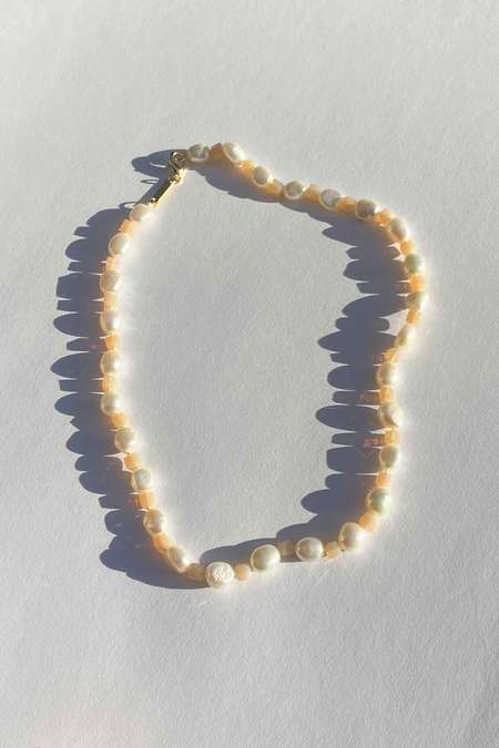 Vanessa Mooney Freshwater Pearl Necklace - Peach