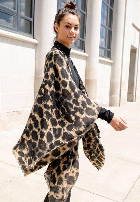 Fabulous Furs Ruana - Leopard