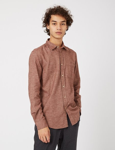 Portuguese Flannel Teca Shirt - Cinnamon