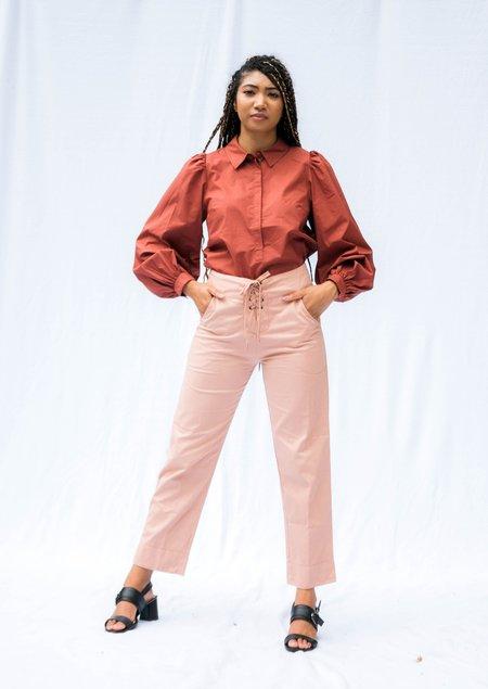 Acacia London Lace Up Pant - Pink