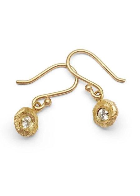 PAGE SARGISSON 18K Diamond Drop Earrings - 18K yellow gold
