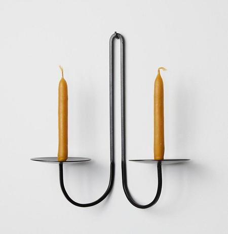 Fredericks & Mae 2-Arm Iron Candleholder - black