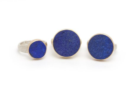 Tony Malmed Jewelry Afghani Rough Top Lapis Ring -  Silver/14k gold