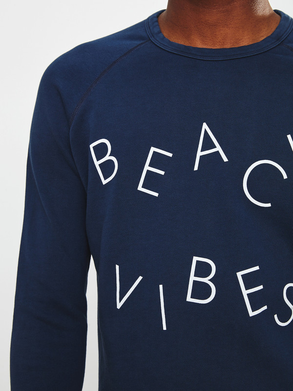Men's Quality Peoples Beach Vibes Crewneck