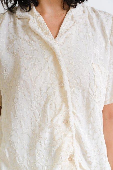 Caron Callahan Johan Viscose Jacquard Top - Ivory