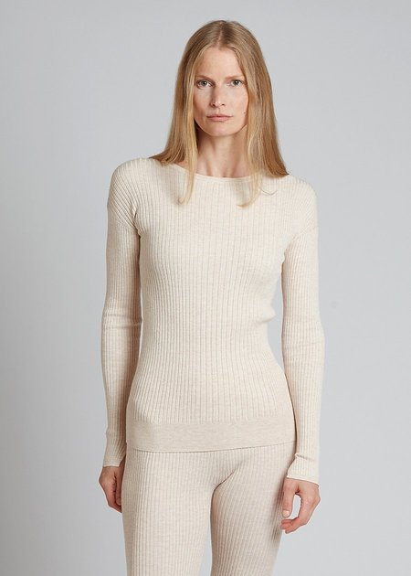 Oyun Ribbed Crew Neck - Ivory