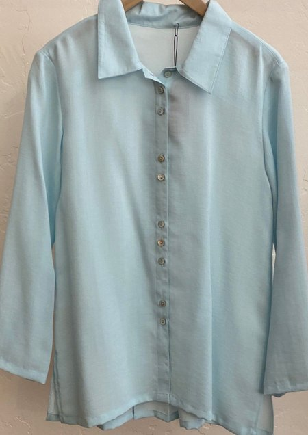 Fridaze Seaglass Fun Buttons Shirt - Turquoise