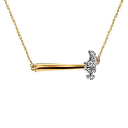 Joan Hornig Jewelry Secure the Future Necklace - Hammer Gold