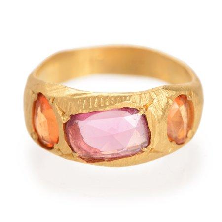 PAGE SARGISSON Three Sapphire Ring - 18K Gold