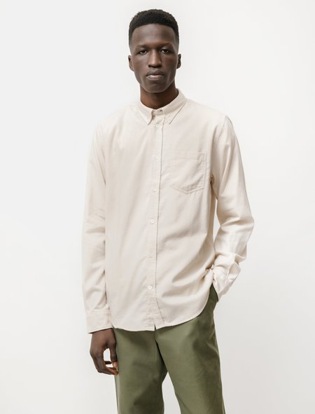 Norse Projects Anton Brushed Flannel Shirt - Oatmeal