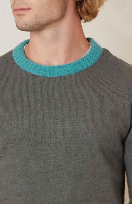Propaganda Agency Trilogy Sweaterr W Contrast Neck - Grey/Teal