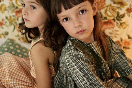 Kids Bonjour Rosalie Dress - Ikat Check