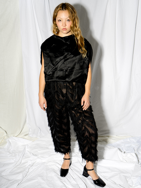Suzanne Rae Flecos Feather Trouser - Black