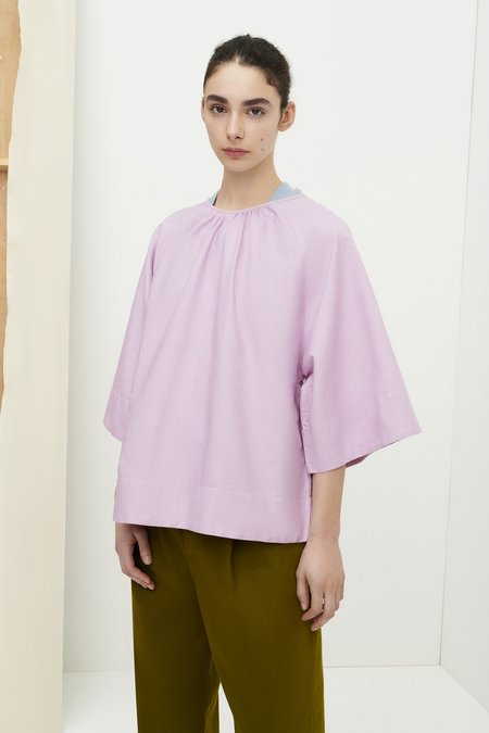 Kowtow Constance Top - Lilac Chambray