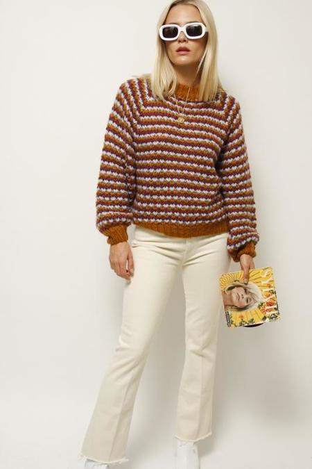 Mother Denim Mother Hustler Ankle Fray Jeans - Ivory