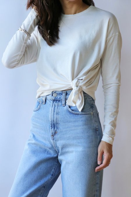 Overlover Marmont Jersey Tee in Milk Jeans - White