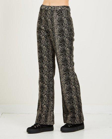 Anna Sui Serpents Shimmer Pant - Black Snake