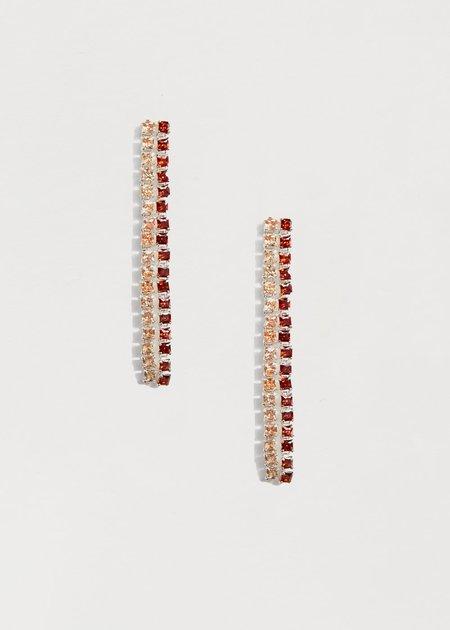 Jasmin Sparrow Cherry Earrings - Silver