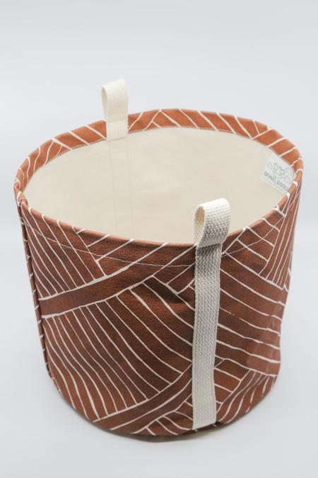 Gravel & Gold Large Canvas Bucket - Hatu