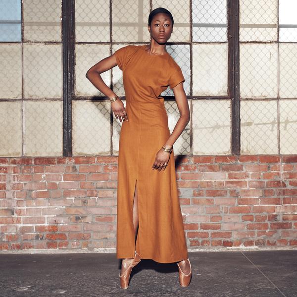 Ali Golden RAW SILK MAXI DRESS - BLACK