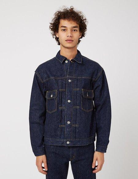 orSlow 50s Denim One Wash Jacket - Navy Blue