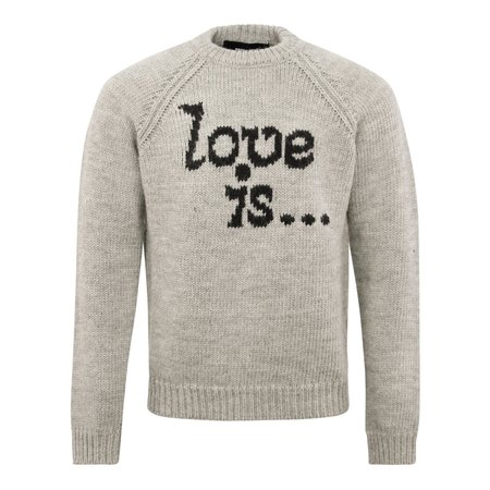 DSQUARED2 F.3 Love Is Knitted Crewneck - Charcoal