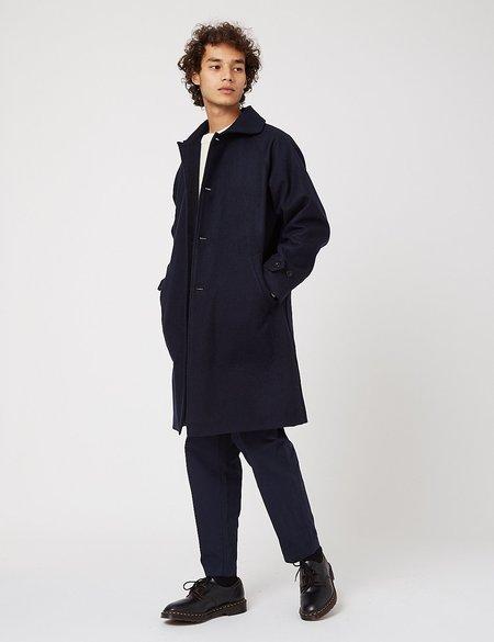 Arpenteur Utile Melton Wool Coat - Navy Blue