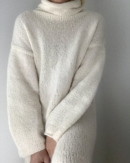 Bozidara Alpaca Sweater Dress - Ivory