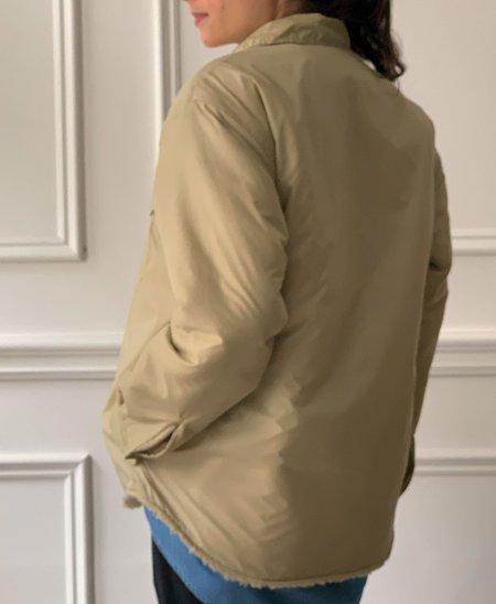 Unisex MYTHINKS Nylon Boa Jacket - Beige