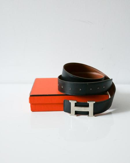 [pre-loved] Hermes Reversible Belt - Black/Brown