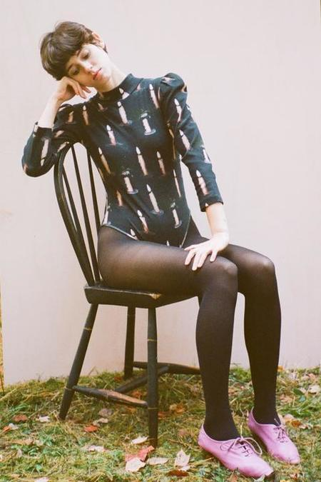 Samantha Pleet Turtle Bodysuit - Candle Print