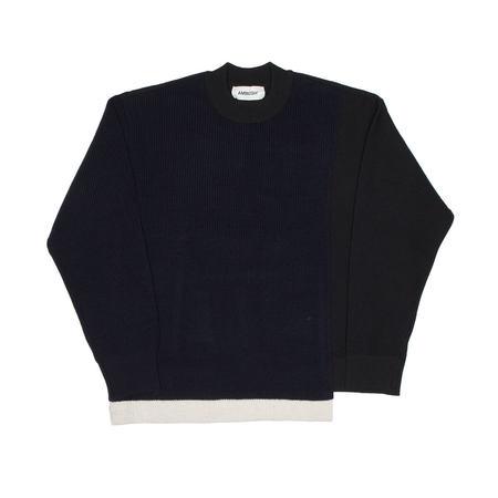 AMBUSH Overlap sweater - black/white