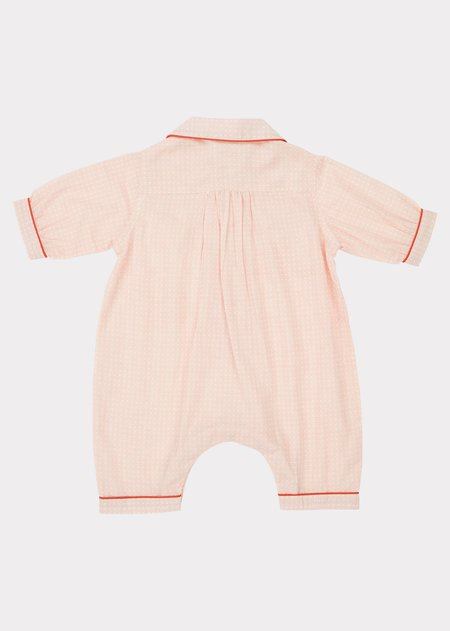 KIDS Caramel Baby Pyjamas - Pink Check