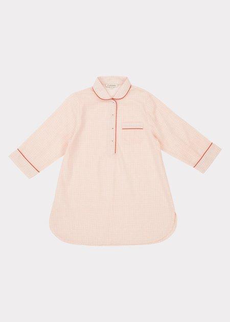 Kids Caramel Nightdress - Pink Check